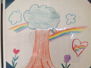 Rainbow with Trees